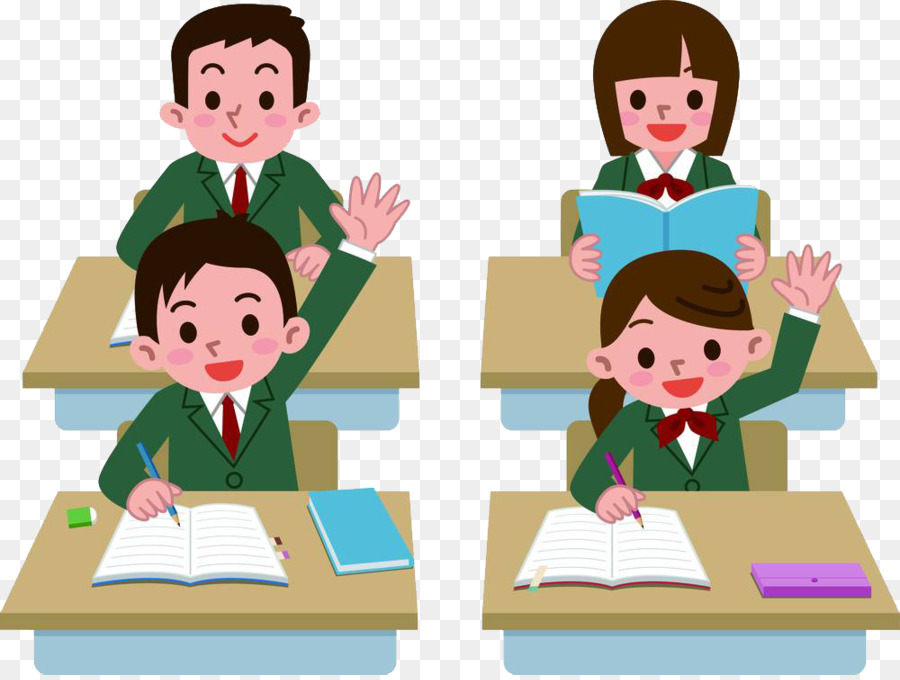 Student Royalty-free Class Clip art - Hands up students ...
