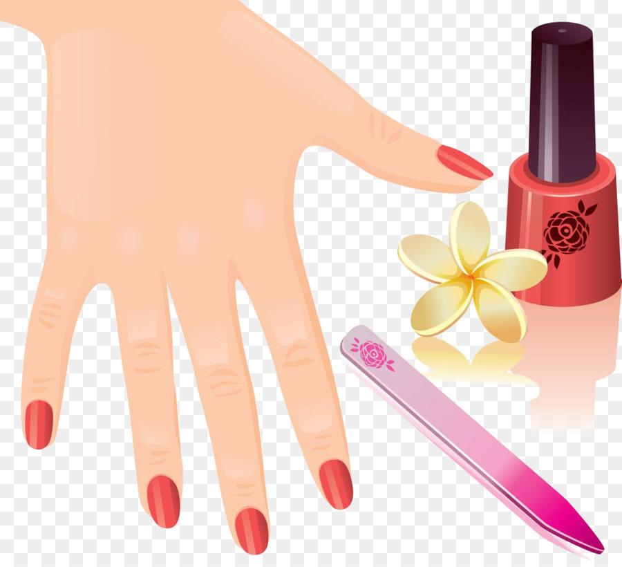 Manicure Nail Pedicure Royalty-free Clip art - Nail polish png ...