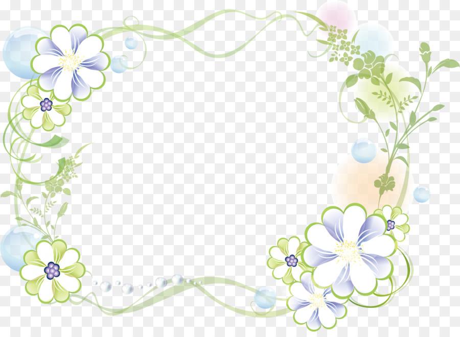 Floral Border Design Png Download 1051 759 Free Transparent
