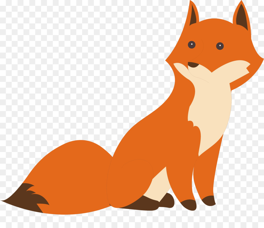 Hand Painted Fox Design Free Vector