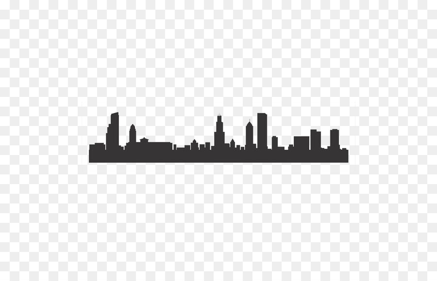 chicago skyline silhouette stencil city bustling city png download