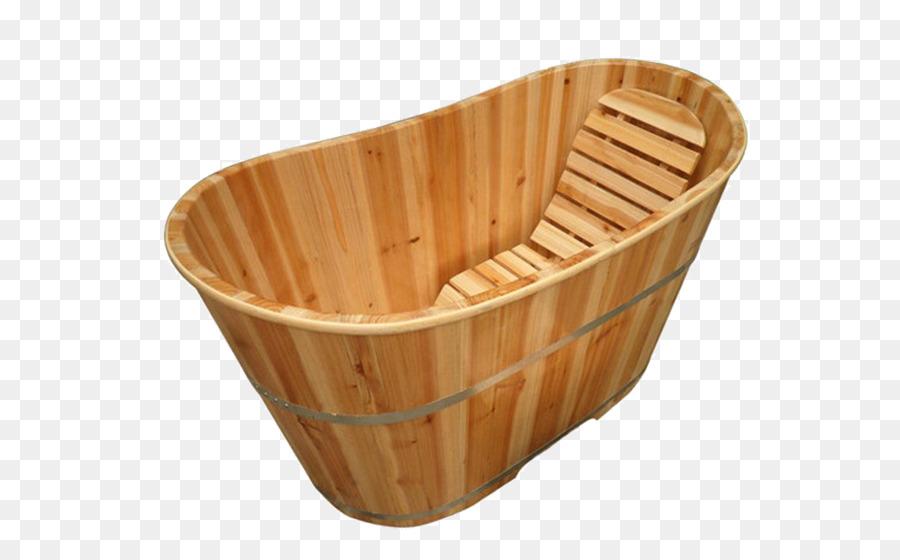Wood Bathtub Bathing - Wooden bathtub png download - 600*547 - Free ...