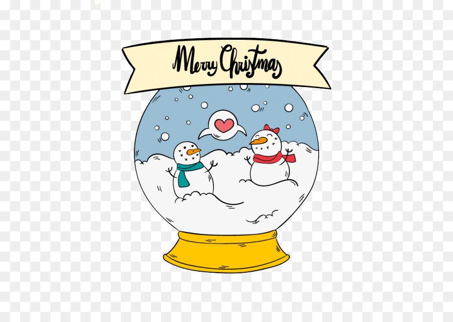 Muñeco de nieve de Navidad Clip art - Lindo poco de bola de nieve ...