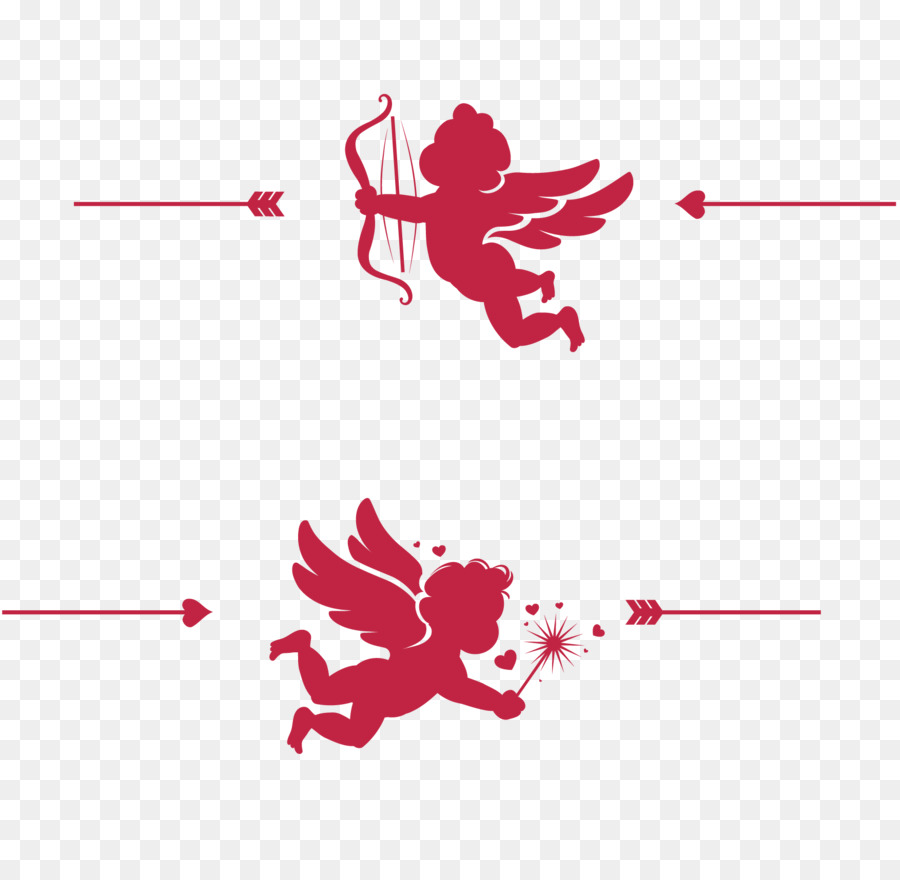 Wedding invitation Valentines Day Cupid - Cupid\'s Arrows png ...