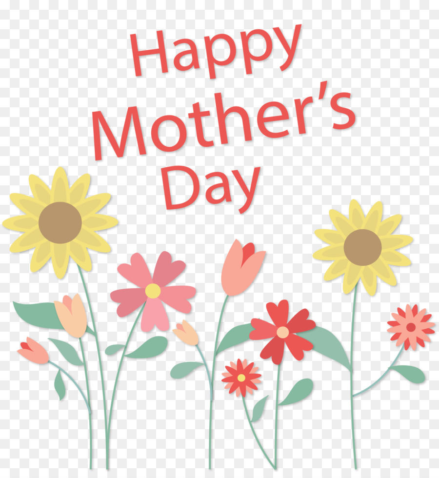 Mothers Day Flower Sunflower Mothers Day Greeting Card Png
