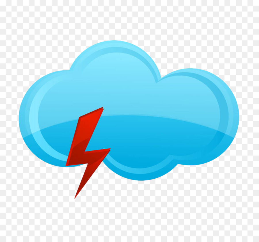 Rain Cloud Symbol Drawing Illustration Hand Painted Blue Weather