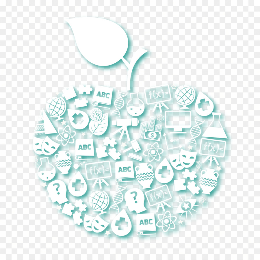 organism pattern - vector apple background for science and education