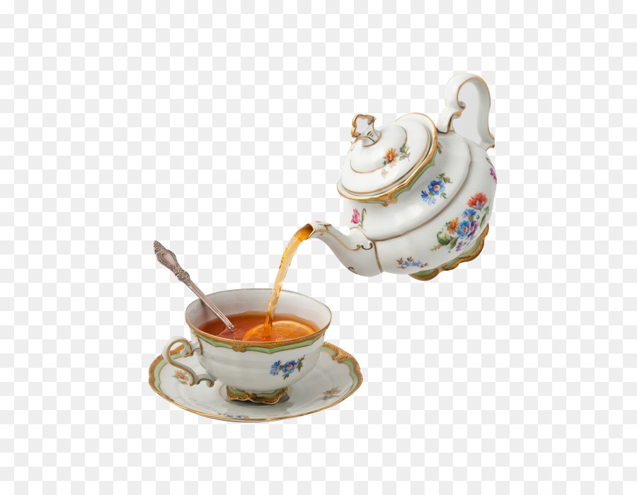 Teapot Teacup Tea Party Continental Tea Png Download 598 687
