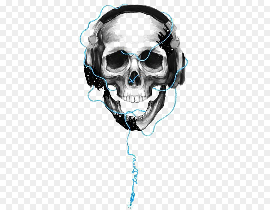 64445d3f0bf Headphones Skull - Skeleton wearing headphones png download - 498 ...