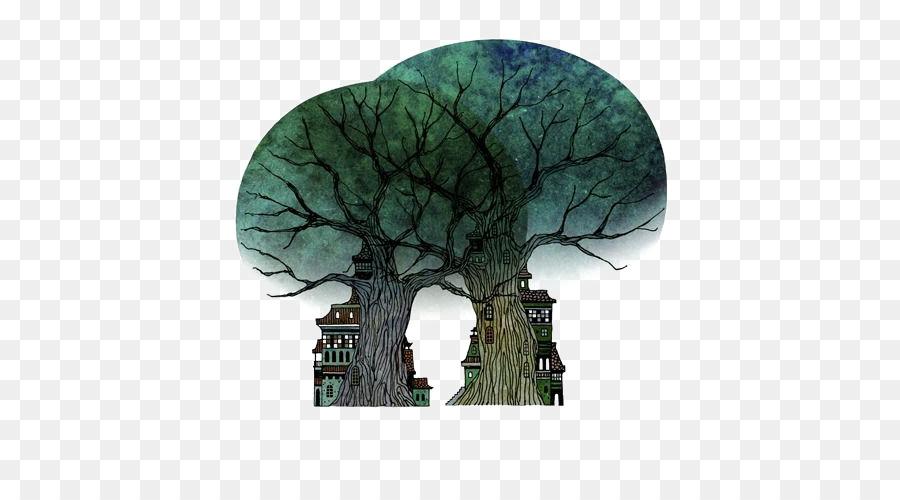árvore De Desenho Ilustração Cartoon árvore Transparente Planta