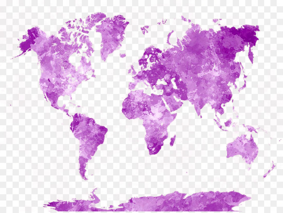 World Map Watercolor Painting Poster Beautiful Watercolor World - Pink world map poster