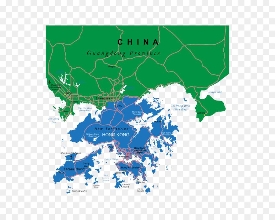 Hong Kong Royalty free Vector Map Illustration