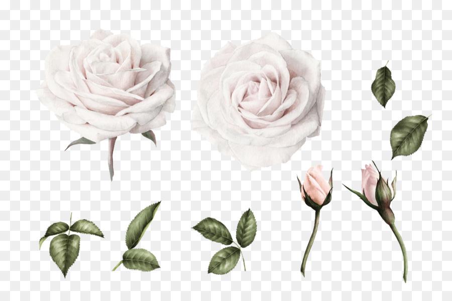 Invitation De Mariage De Peinture A L Aquarelle Blanc A La Fleur De