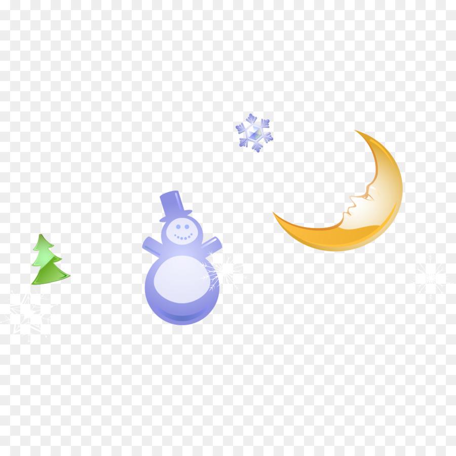 Baum Download - Niedliche Schneemann-Mond-Bäume png herunterladen ...