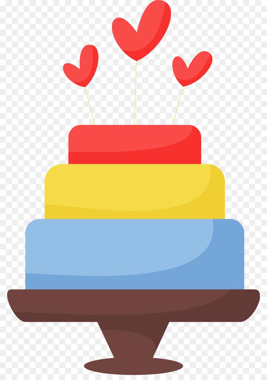 Birthday Cake Torte Cake Decorating Clip Art Vector Color