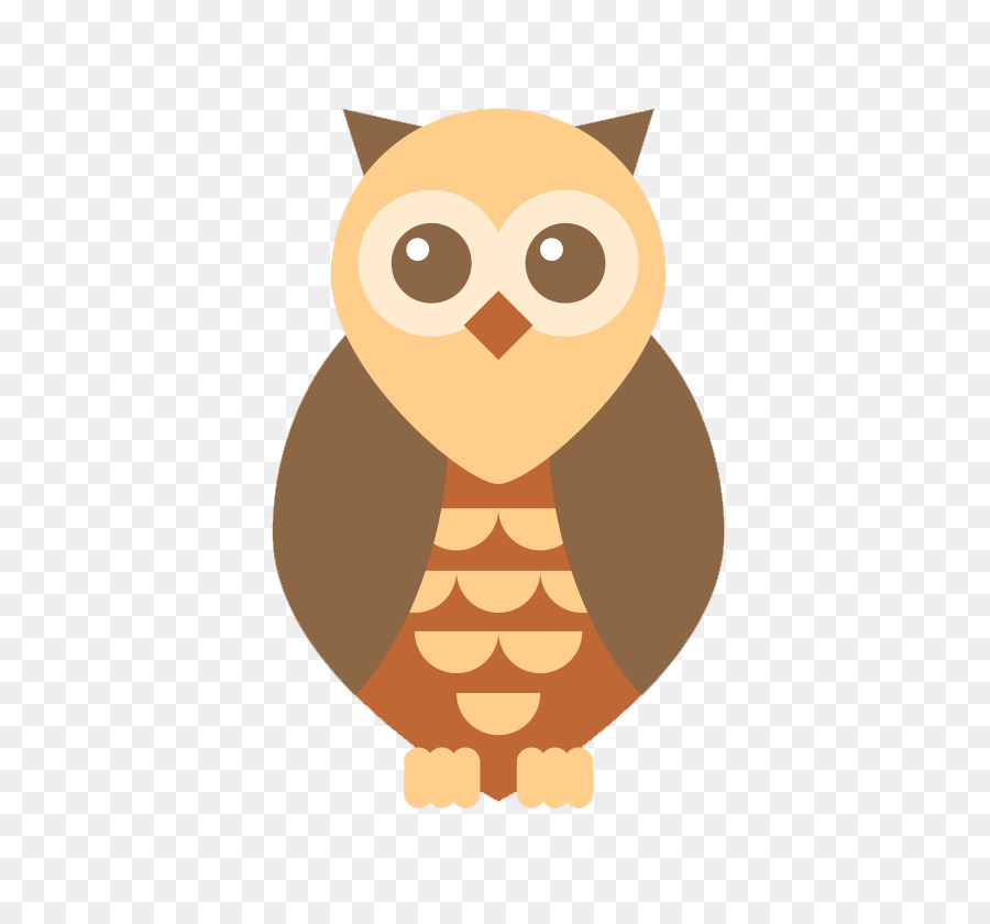 Burung Hantu Raksasa Panda Kartun Ilustrasi Owl