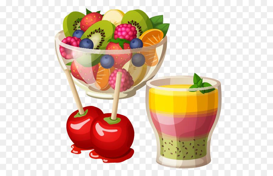 Fruit salad Greek salad Clip art - Fruit salad and cold ...