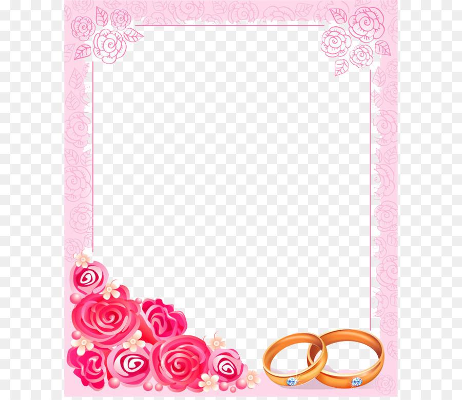 Pink Wedding Borders Clip Art: Wedding Invitation Picture Frame Clip Art