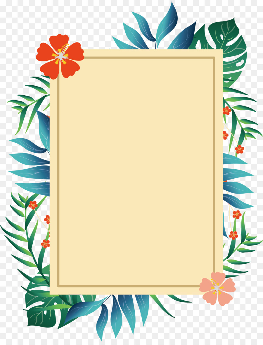 picture frame poster romantic summer plant borders png download 2071 2687 free transparent summertime clip art to print summer time cliparts