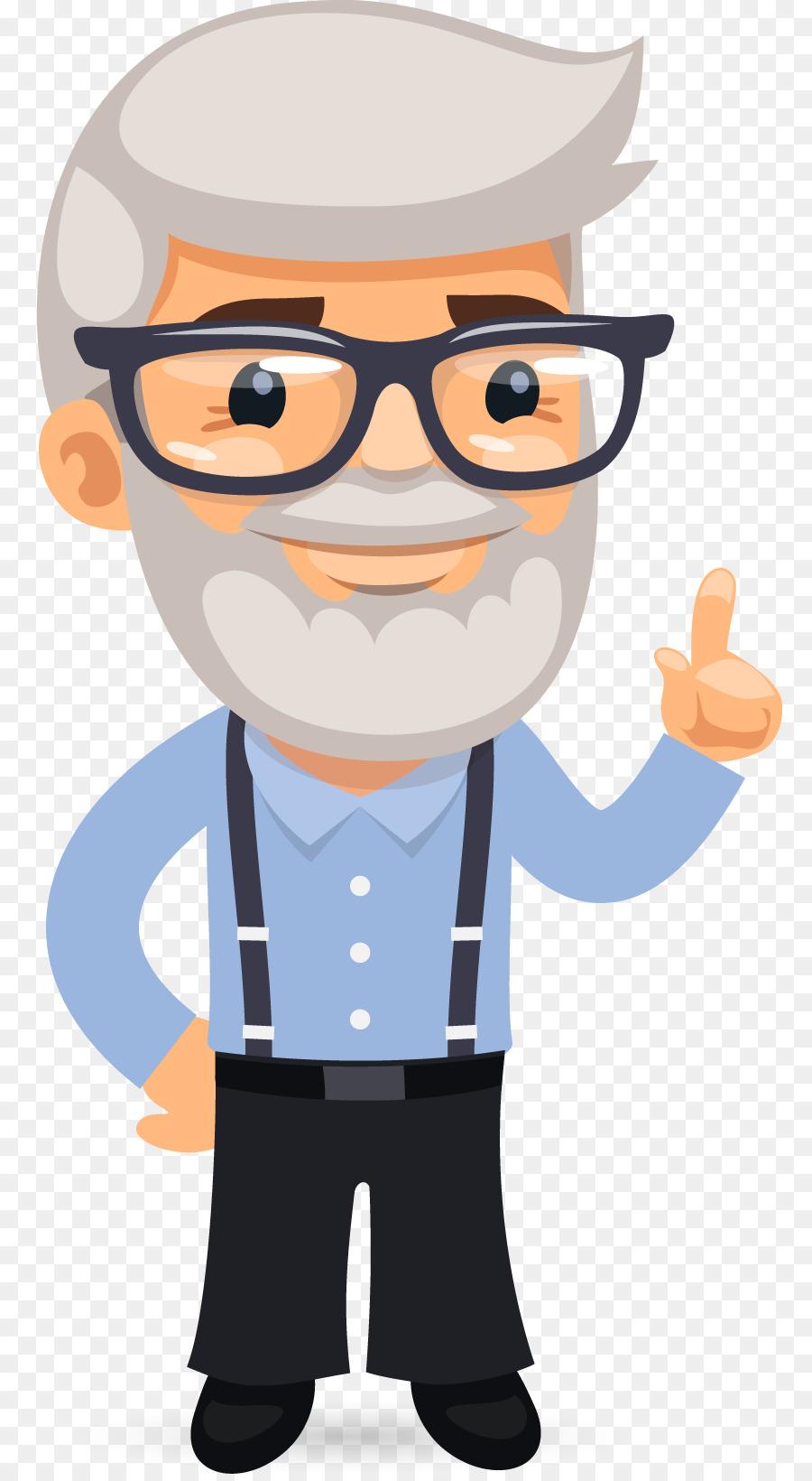 text icon cartoon senior mathematics professor picture