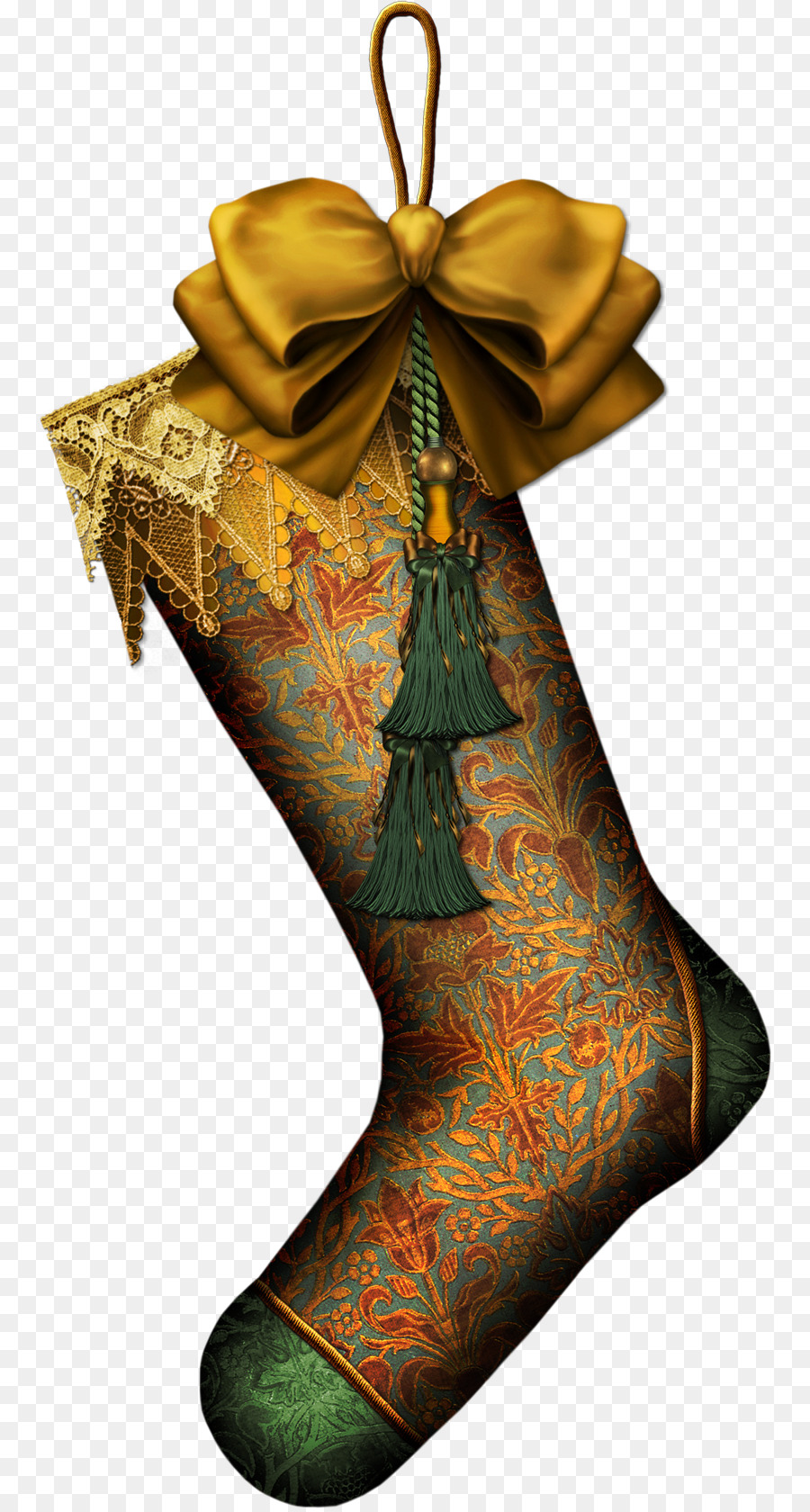 santa claus christmas stocking christmas ornament gift boot png