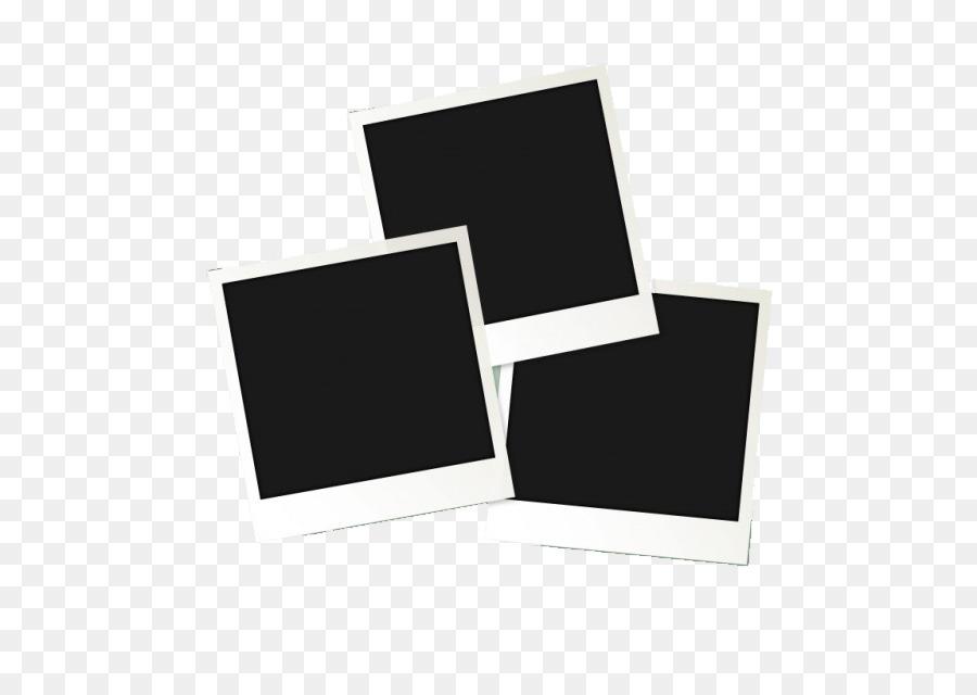 Instant camera Polaroid Corporation Download - Black Frame png ...