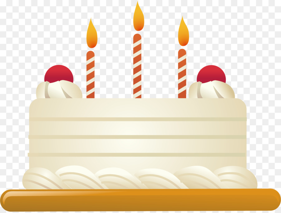 Birthday Cake Torte Buttercream Cake Decorating Candles Png Vector