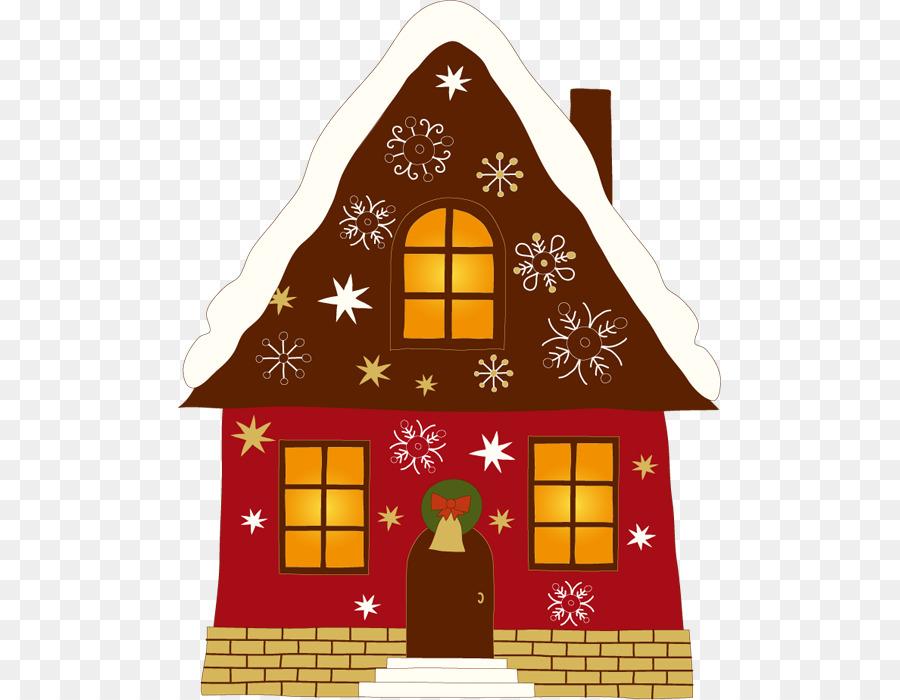 santa claus gingerbread house christmas clip art gingerbread house - House Christmas Ornament