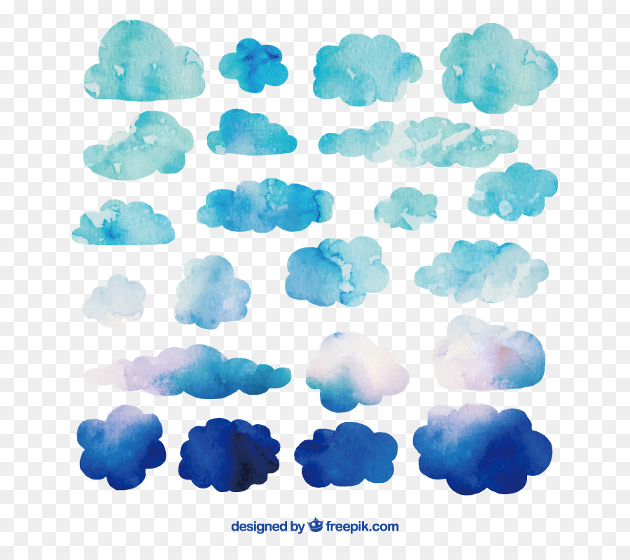 Clouds watercolor. Cloud drawing png download