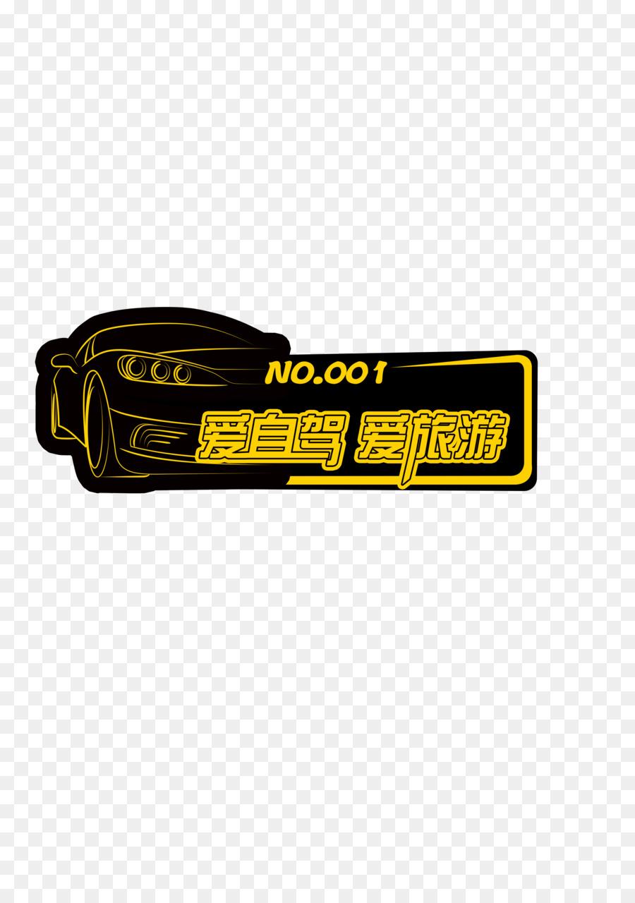 Car logo bumper sticker text brand png