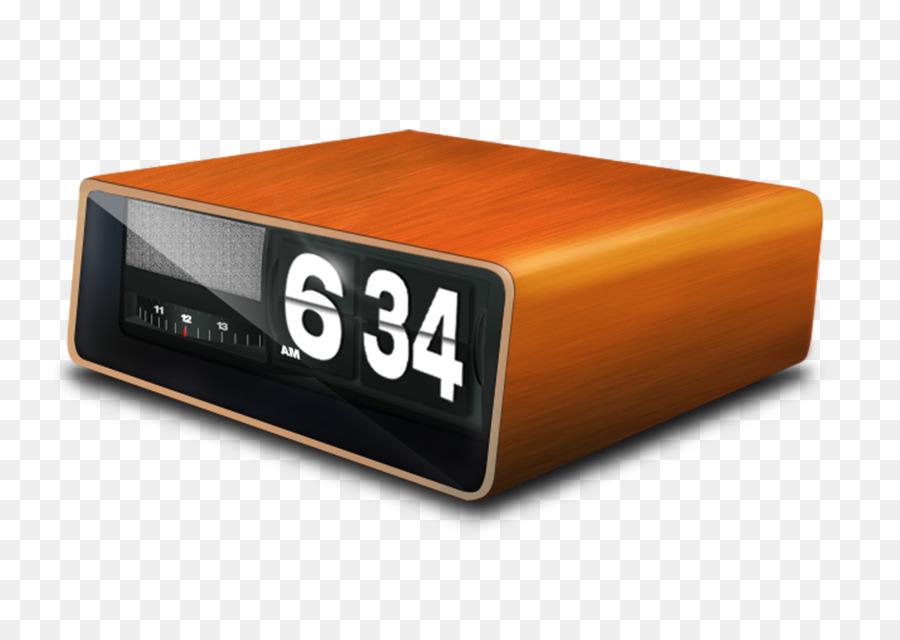 Alarm Clock Flip Digital Wooden Desk Table