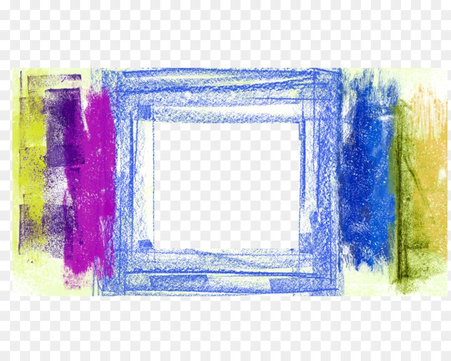 Blue Crayon Blue Frame Crayon Border Png Download 1024818