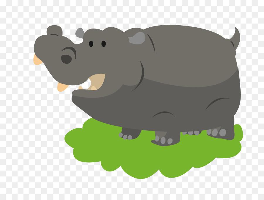 Kuda Nil Gambar Kartun Hippo Unduh Carnivoran Babi Seperti