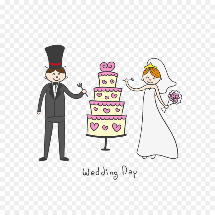 Hochzeitstorte Brautigam Hochzeits Einladung Cartoon Braut Und