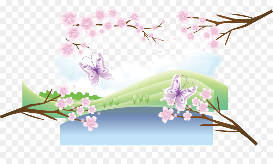 cherry blossom spring spring cherry png download 2958 1721 rh kisspng com Hello Kitty Clip Art Cherry Blossoms Cherry Blossoms Japanese Art