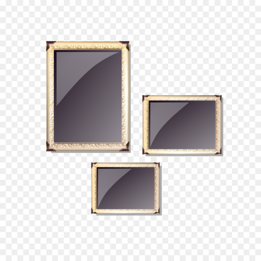 Marco de la imagen del Diseñador - Tres de oro marco Formatos De ...