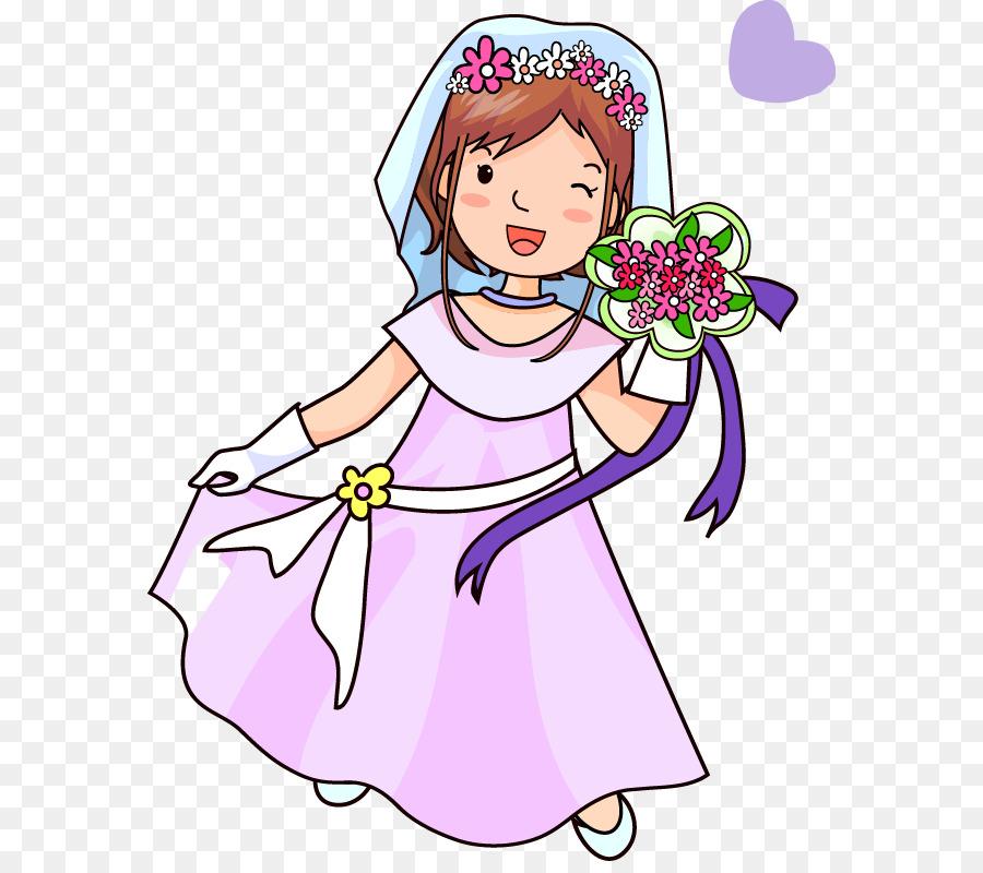 Cartoon Braut Schone Hochzeit Kleid Png Herunterladen 630 789