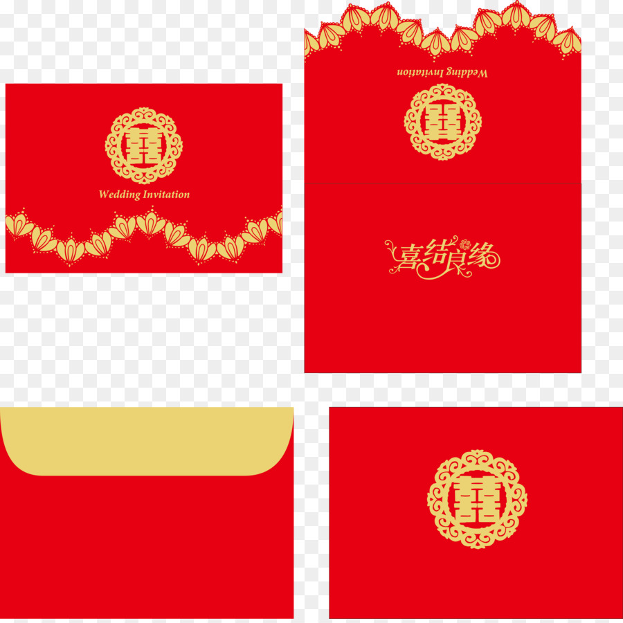 Marriage Wedding - Vector red traditional wedding png download ...