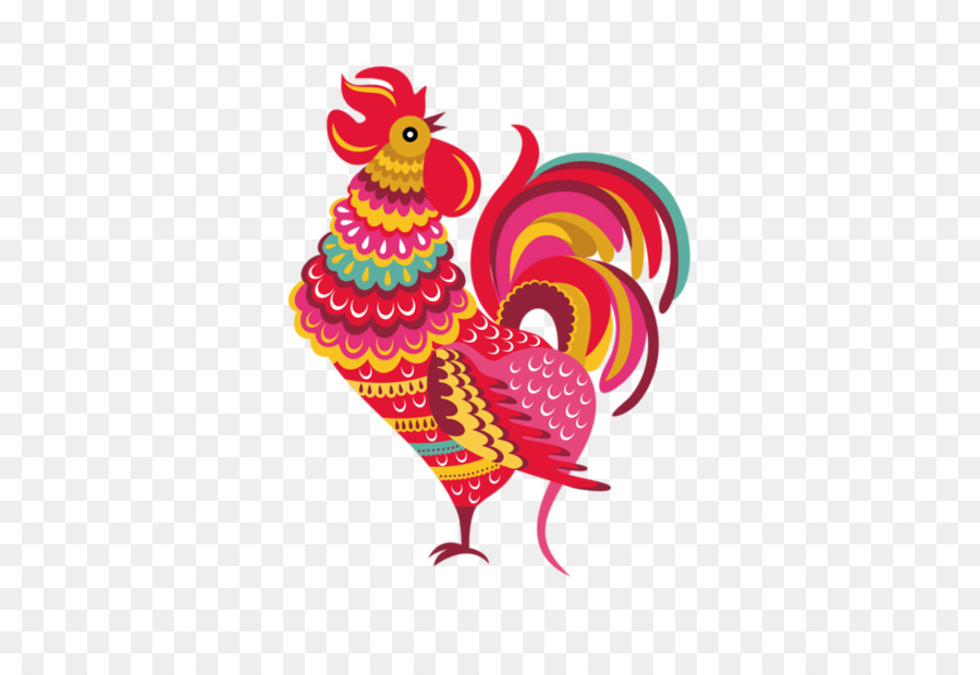 Rooster Symbol Idea Chinese Astrology Year Cartoon Chicken