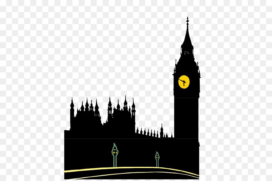 Big Ben Palace Of Westminster London Eye T Shirt Silhouette