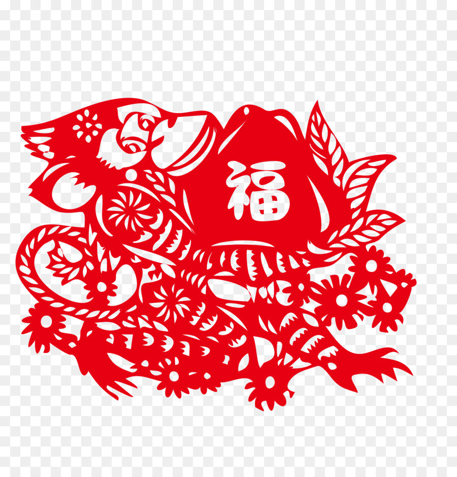 la découpe de singe découpage de papier chinois nouvel an chinois