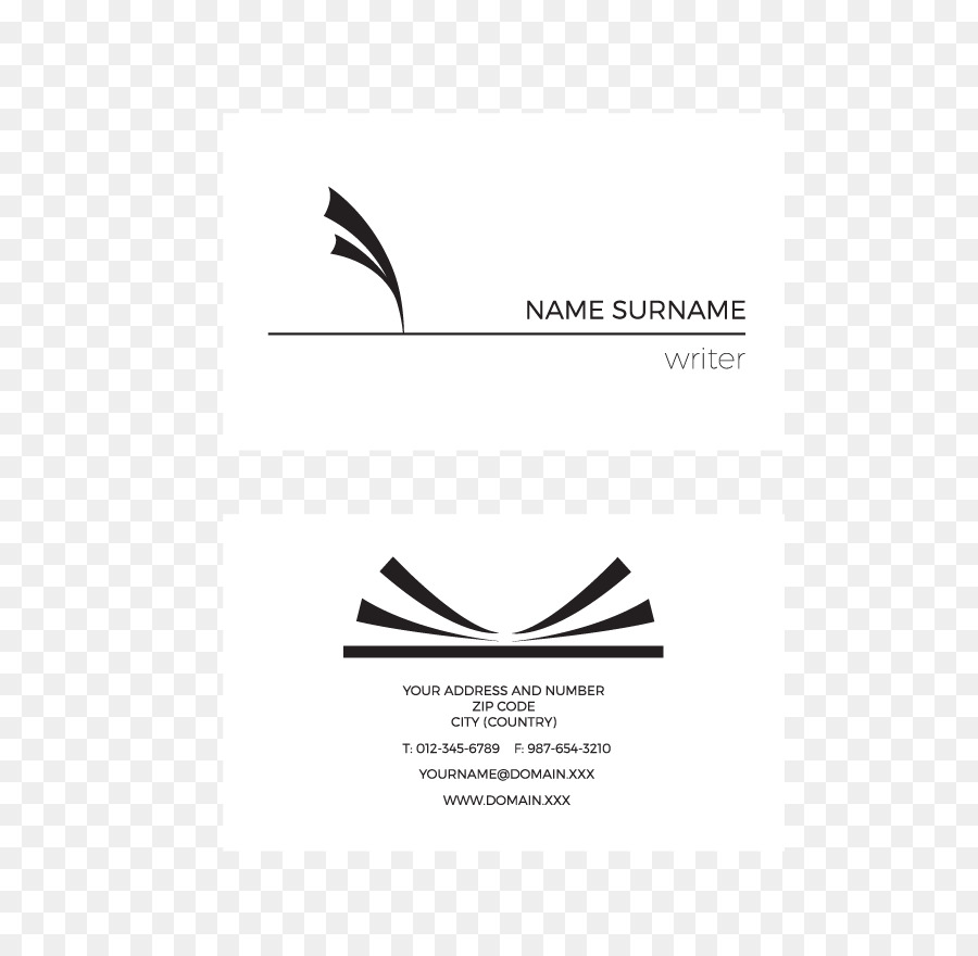 Business Card Design Visiting card Logo - Simple business cards png ...