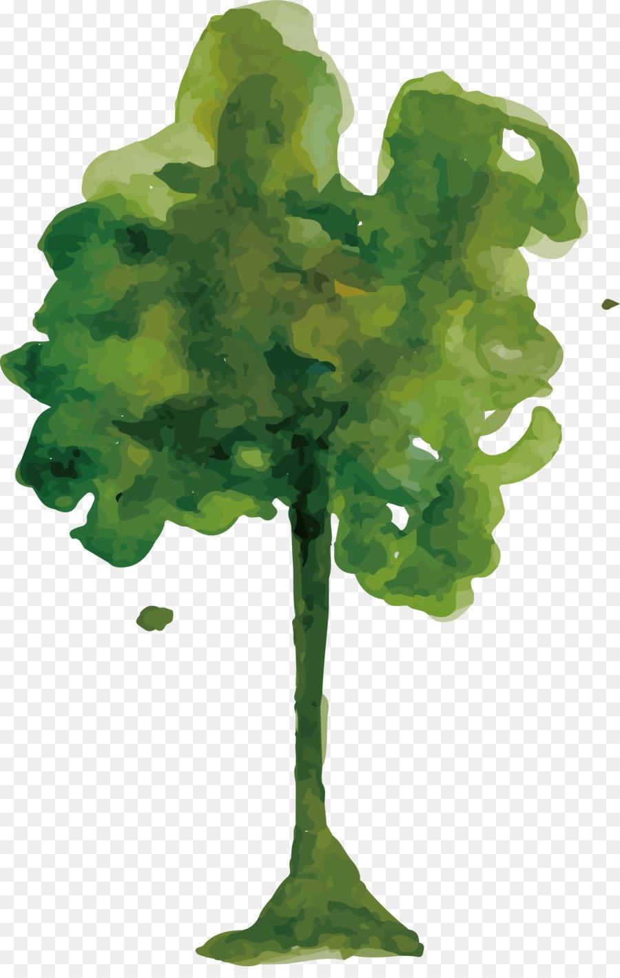 Watercolor painting Tree - Watercolor tree design png download ...