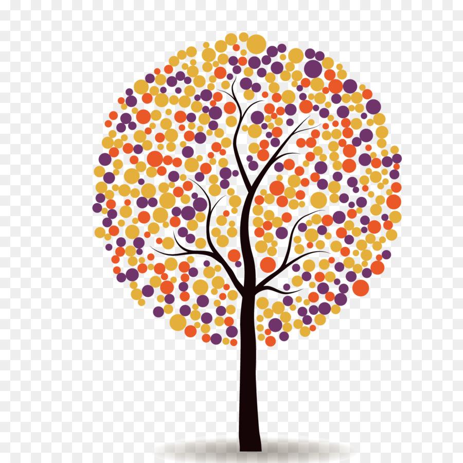 árbol De Color Verde árbol De Color De Pincel Png Dibujo