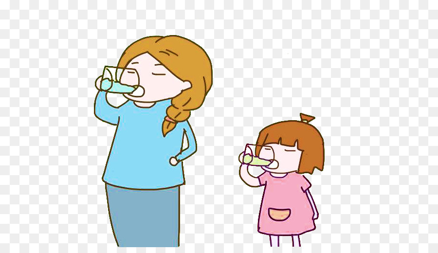 drinking mother child - mother and baby drink water picture material