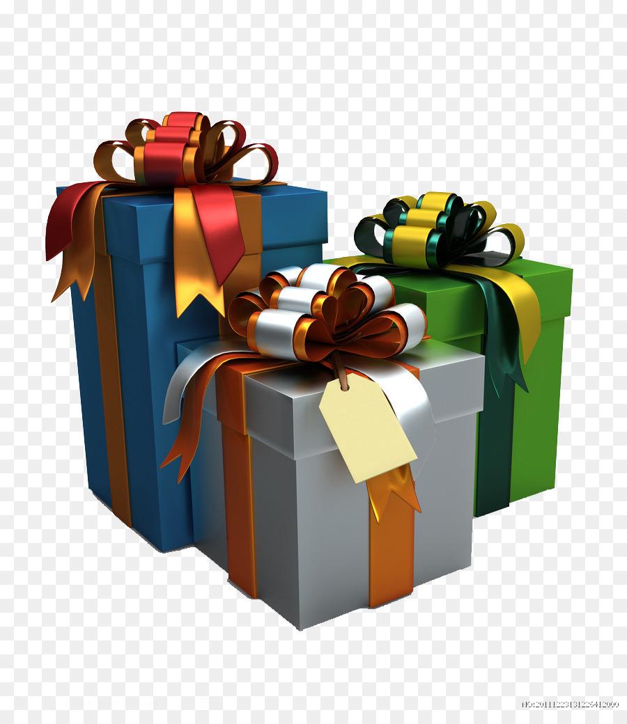 Weihnachten, Glück, Liebe, Engagement Familie - Drei Geschenk-Boxen ...
