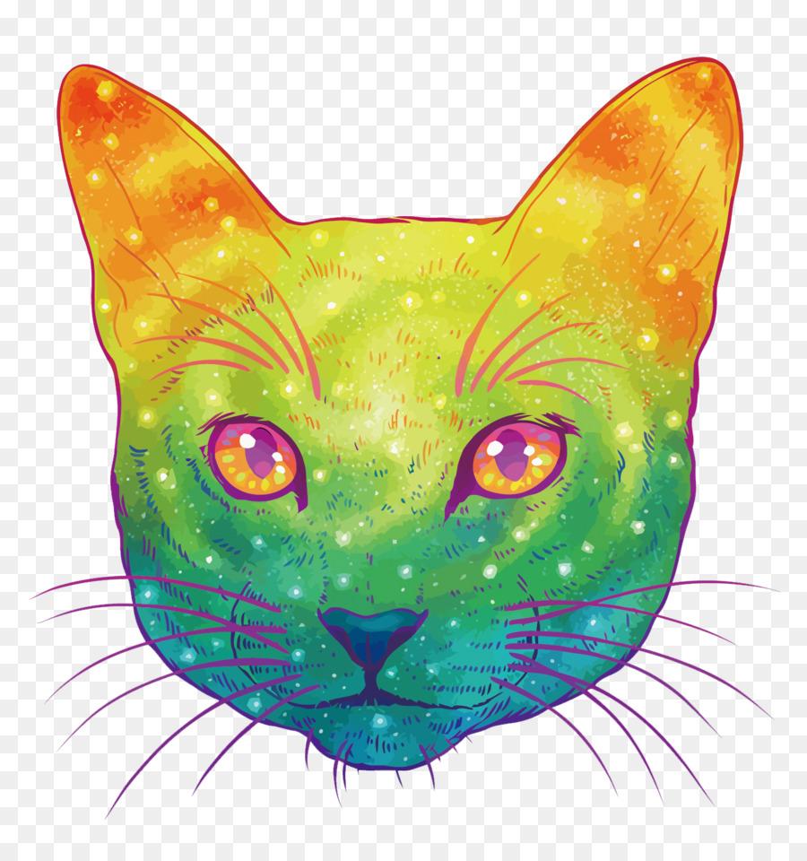 Gato Gatito Felidae Dibujo De Ilustración - Vector Colorido Gato ...