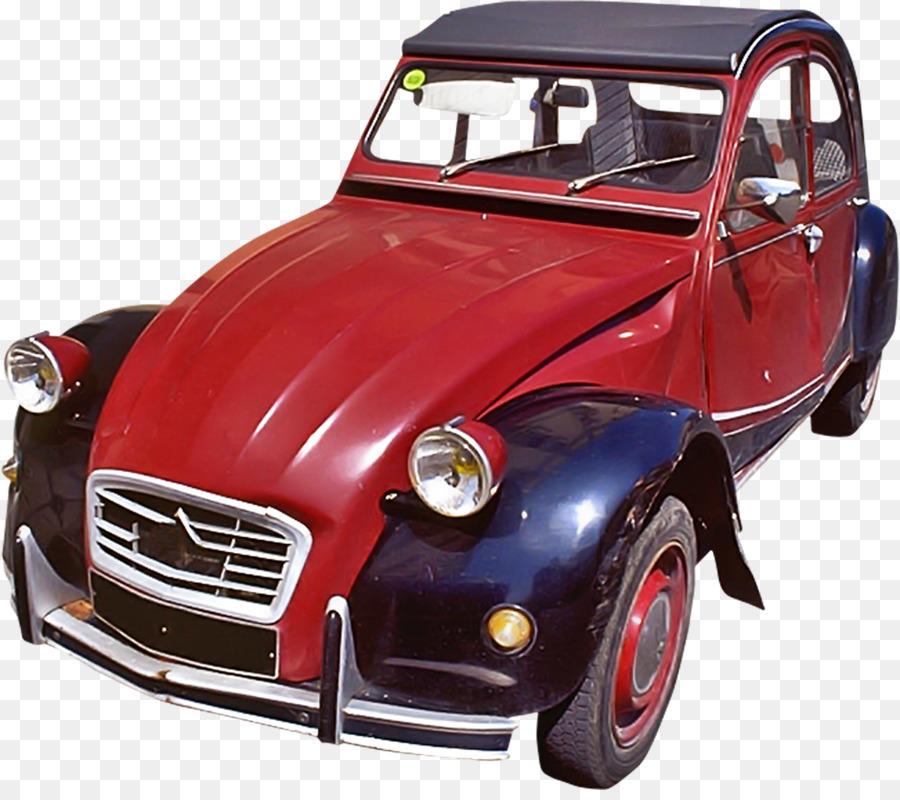 Red Vintage Car Png Download