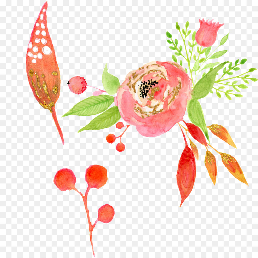 Floral Design High Definition Television Graphic Design Template    Watercolor Flowers