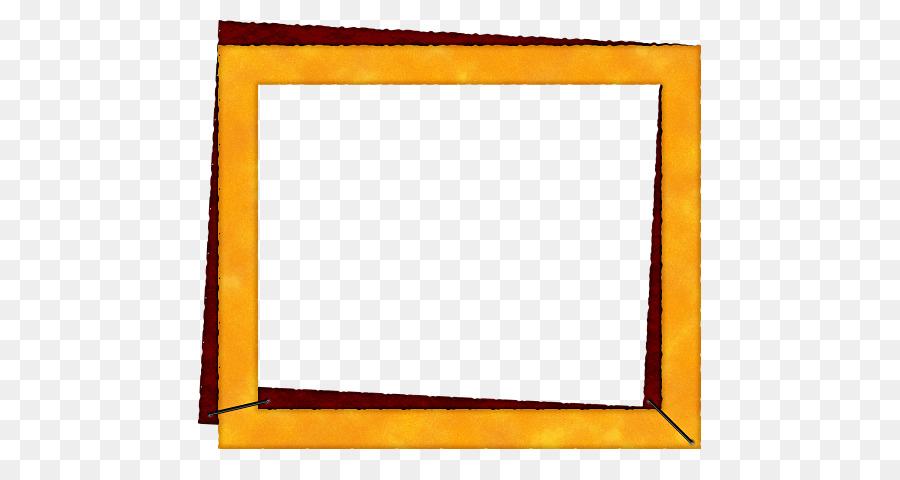 Orange Photography Picture frame - Orange Frame png download - 539 ...